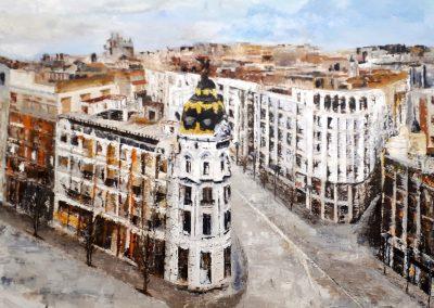Edificio Metrópolis con la Gran Vía  Autor:  Paco Ramos